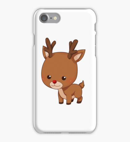 cute reindeer iPhone Case/Skin