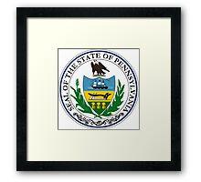 Pennsylvania seal Framed Print
