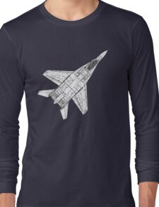 Mig 29 Fighter Plane Long Sleeve T-Shirt