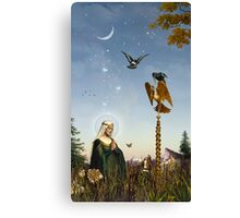 The Golden Post Canvas Print