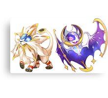 Pokemon Sun and Moon Canvas Print