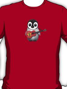 Baby Penguin Playing Vietnamese Flag Guitar T-Shirt