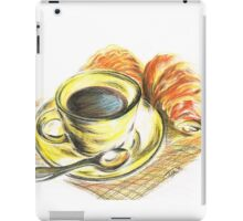 Morning Coffee with Croissants iPad Case/Skin