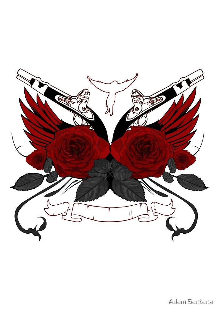 Guns and Roses RED by Adamzworld