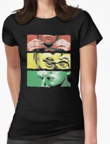 Roll Up Weed Rasta Womens Fitted T-Shirt