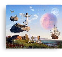 On the Shores of Floating Rock Canvas Print