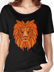 Polygonal Lion Face Women's Relaxed Fit T-Shirt