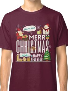MERRY CHRISTMAS AND HAPPY NEW YEAR CUTE CARTOON Classic T-Shirt