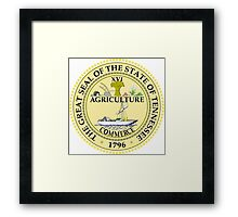 Tennessee seal Framed Print