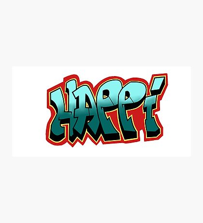 Happi Graffiti Photographic Print