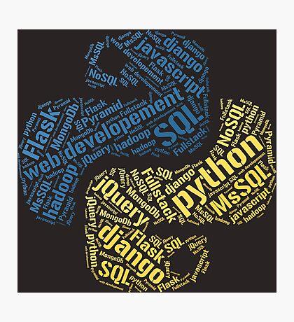 Python Programmer T-shirt & Hoodie Photographic Print