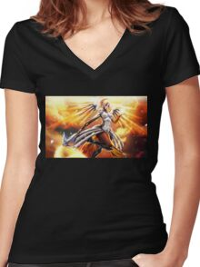 OVERWATCH MECRY Women's Fitted V-Neck T-Shirt