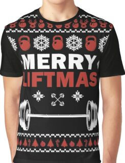 Merry Liftmas Ugly Christmas Sweater Gym lovers Gift T-Shirt Graphic T-Shirt