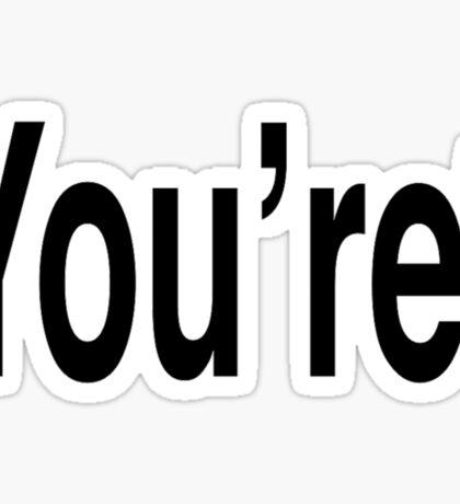 You're* A Grammar Nazi  Sticker
