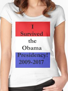 Surviving Obama - You Made It! Women's Fitted Scoop T-Shirt