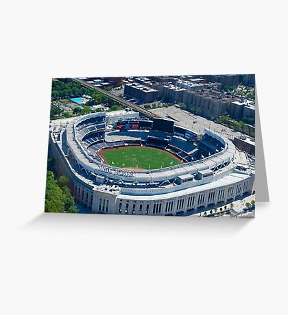 Yankee Stadium From Above Greeting Card