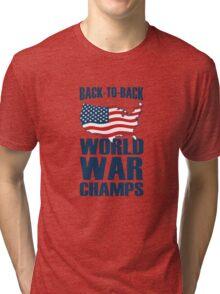 Back to Back World War Champs Tri-blend T-Shirt