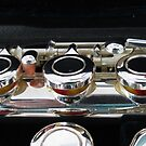 Flute - Close-up of Boehm Mechanism by MidnightMelody