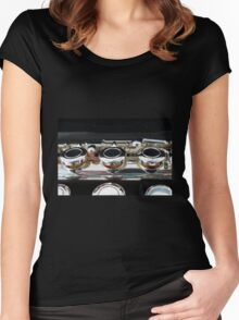Flute - Close-up of Boehm Mechanism Women's Fitted Scoop T-Shirt
