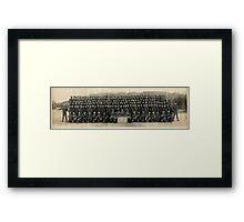"""05/06/1961, USMC """"M Co., 2nd BN. 2nd. Infantry Training Regiment Camp Pendleton, CA.  Framed Print"""