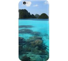 Lagoon at Wayag iPhone Case/Skin