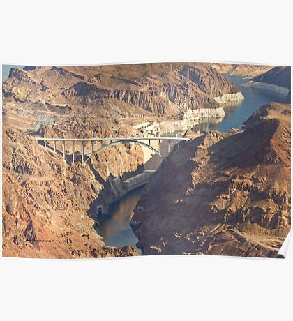 Hoover Dam and Hoover Dam Bypass Bridge Poster