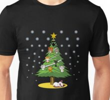 Christmas Cats Tree Decoration Holiday Gift T-Shirt Unisex T-Shirt