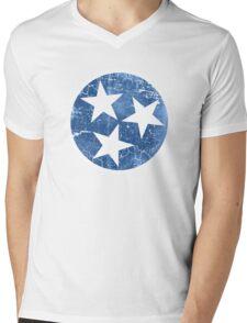Vintage State Flag of Tennessee Mens V-Neck T-Shirt
