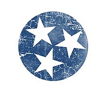 Vintage State Flag of Tennessee Photographic Print