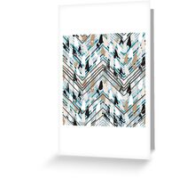 Chevron print with colorful stripes and lines Greeting Card