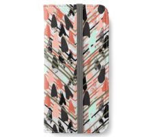 Chevron print with colorful stripes and lines iPhone Wallet/Case/Skin