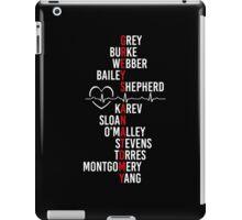 Grey's Anatomy - Grey's Cast names  iPad Case/Skin