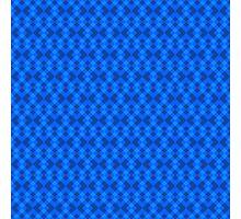 Hypnotic blue squares Photographic Print