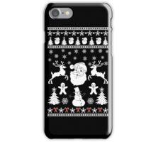 Santa Reindeer Ugly Christmas Sweater Men Women Gift T-Shirt iPhone Case/Skin