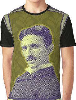 Nikola Tesla's Electric Mind Graphic T-Shirt