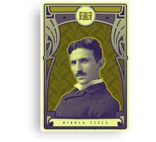 Nikola Tesla's Electric Mind Canvas Print