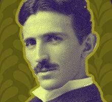 Nikola Tesla's Electric Mind Sticker