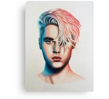 colored Justin  Canvas Print