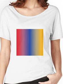 Stripes Gradient - Red | Blue | Gold Women's Relaxed Fit T-Shirt