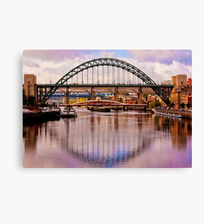 Newcastle Bridges Canvas Print
