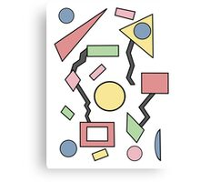 80's Shapes Pattern Canvas Print