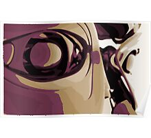 Purple Eyed Robot Poster