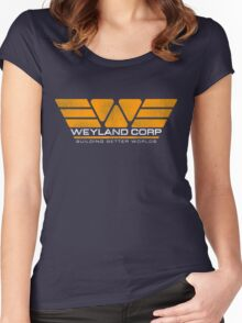 WEYLAND CORP - Building Better Worlds Women's Fitted Scoop T-Shirt