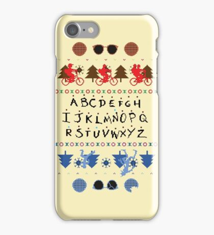 Stranger Things Christmas jumper iPhone Case/Skin