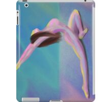 Woman Yoga Pose in Dreamy Pastel Colors iPad Case/Skin