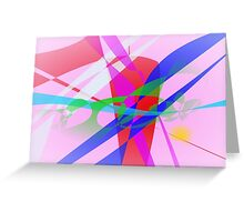 Abstract Freedom Greeting Card