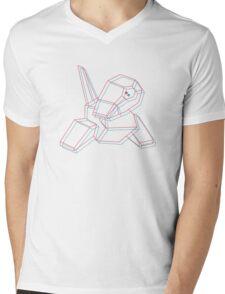 Porygon 3D Mens V-Neck T-Shirt
