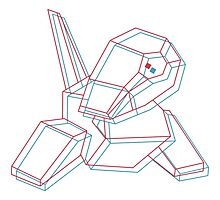 Porygon 3D Photographic Print