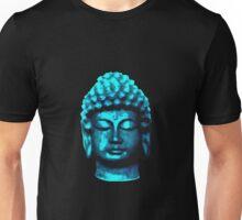 Buddha head blue Unisex T-Shirt