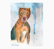 Red Nose Pit Bull Loose Watercolor Portrait Unisex T-Shirt